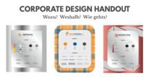 Corporate Design Manual Handout Übersicht Beispiele