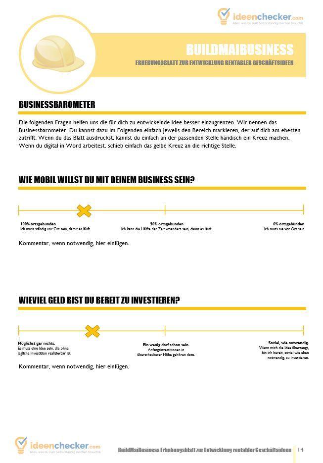 Geschäftsideen finden Build my Business